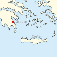 Map of Peloponnese