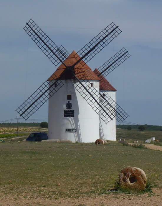windmills in Don Quixote country