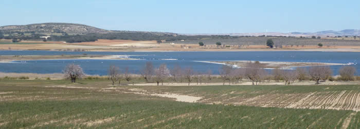 Steppe and lagoon at Albacete